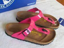 1d3313ee24c8 NEW Birkenstock Gizeh Ladies Pink Patent Toe Post Mules Sandals Size 3.5 EU  36