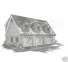 38 x 26 3 Car Garage TD / Dormer Loft Building Plans