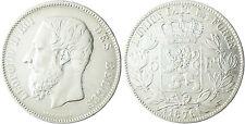 BELGIQUE  LEOPOLD  II  ,  5  FRANCS  ARGENT   1876