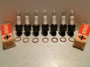 7 Vintage NOS Autolite ATL8 Spark Plugs 1938-1954 Ford Mopar = Champion H11