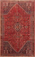 ANTIQUE Geometric Tribal 6x9 Abadeh Persian Oriental Hand-Knotted 6x9 Area Rug
