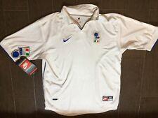 VTG 90s ITALY WORLD CUP 1998 Sz M AWAY NIKE FOOTBALL SOCCER JERSEY SHIRT maglia