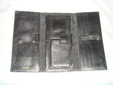 MEN'S FAUX LEATHER TRIFOLD UNBRANDED Clutch/Long Wallet BLACK - IN GOOD COND