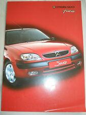 Citroen Saxo Furio brochure Jan 2002