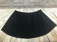 Boutique Black Stretch Swimwear Swim Skirt Skort Plus Size 1X NNT