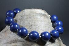 Vintage 60er 70er Sängerform Halskette Kette Statement Boho blau 2 Modeschmuck