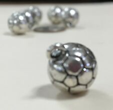 Six soccer ball charms for bracelet, necklace, earrings or other crafts