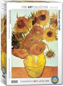 Eurographics 1000 Piece Jigsaw Puzzle Twelve Sunflowers by Van Gogh EG60003688