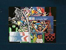 Tchad  bloc  jeux olympiques de Los Angeles    de 1982  num: 34  **