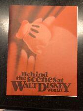 Walt Disney World Behind The Scenes Tour Booklet 1991
