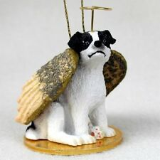 Jack Russell Black White Dog ANGEL Tiny One Ornament Figurine Statue