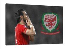 Gareth Bale 30x20 pollici Canvas-Galles Calcio Foto Incorniciata STAMPA ART