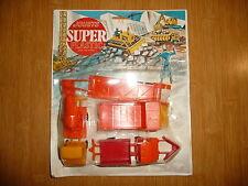 Ancien Jouets SUPER Plastic Engins de chantier sous blister. Année 70/80