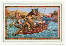 OLD POSTCARD  THE ANGLERS DREAM  LOCH NESS MONSTER  SCOTLAND   VGC
