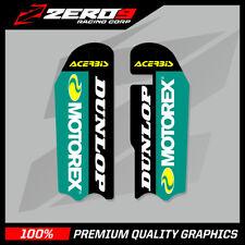 KTM SX 85 2004 - 2012 MOTOCROSS MX GRAPHICS FORK DECAL MOTOREX BLACK