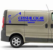 Limpieza de cristales signos de diseño gráfico de vinilo van listo Plus Gratis Logotipo Signo hace