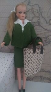 """Vintage Eegee Miss Babette Doll Barbie Clone 11"""" Doll w/ Wool Suit Outfit 1960's"""