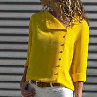 Womens Fashion Long Sleeve Office Lady Chiffon Blouse Shirt T-Shirt Ladies Top