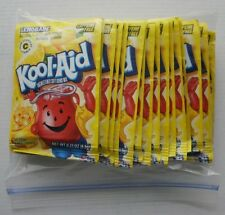 20 packets of KOOL-AID drink mix: LEMONADE flavor, powdered, UNSWEETENED
