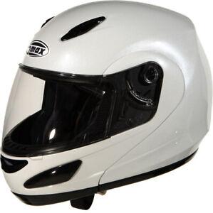 GMAX GM44 Modular Flip Up Full Face Street Motorcycle Helmet Pearl White X-Small