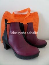 Art Burgundy & Black Sol Leather Ankle Boots - Size 38 UK 5 - BNIB ( Bag )