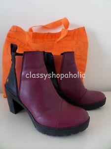 Art Burgundy & Black Sol Leather Ankle Boots - Size 38 UK 5 - BNIB ( Bag )