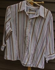 Woman's Multi-Colored Striped Blouse by Croft & Barrow; Size:  PL