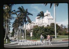 1966 kodachrome photo slide Palm Beach Florida  biltmore hotel Ladies bicycle