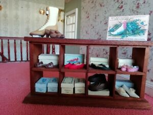 1:12th Dolls House Shoe/Boutique Shop  Display Pairs Shoes & Boxes Handmade