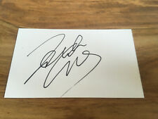 "Signed Roberto Carlos 5x3"" White Card,Real Madrid Brazil,Legend"
