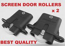 2 x Sliding Security Screen Door Rollers Wheels Best quailty free postage