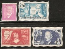 Timbre France neuf* - N° 292 - 336 - 341 - 398.