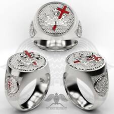MichaelMJewelry - Handmade Freemason Knights Templar ring .925 Sterling Silver