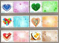 Hong Kong 2015 Heartwarming Valentine's Day Stamps with Logo Ballon Heard Cake