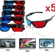 5PCS Red Blue 3D Glasses Anaglyph Framed 3D Vision Glasses for Plasma TV EPS