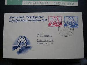 DDR fdc,Mi..-Nr.280-281,Stempel vom 04.03.1951(ESST). topp Zustand