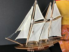 Old Gaff Rig Model Sailing Ship on Stand …beautiful collection piece