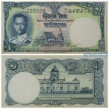1pc World Asia paper money Thai Circulated 1 baht banknote 1958 King Rama 9