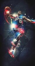 "32 LeBron James Miami Heat 2012 NBA Champion MVP 14""x26"" Poster"