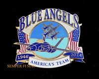 2014 US NAVY BLUE ANGELS US MARINES HAT PIN UP USS WING MCAS NAS F18 HORNET WOW