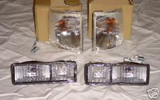 Land Rover Discovery I Clear Light Package Front Corner & Rear Bumper Lenses NEW