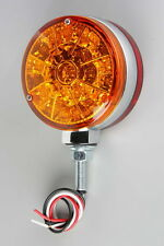 "4"" Round Double-Face, Square Super LED,  Red/Amber - 25 pcs. each side"