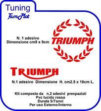 ADESIVO TRIUMPH ADESIVO triumph kit n.2 pz colore rosso