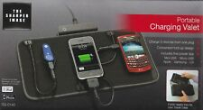 Sharper Image Portable Cellphone Charger Mat Valet 3 Devices Charging CG-C140