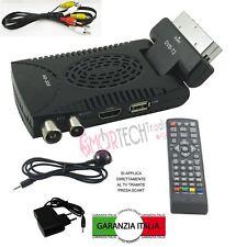 DECODER MINI DIGITALE TERRESTRE SCART DVB-T2 180° USB HDMI PRESA SCART LIYSTAR