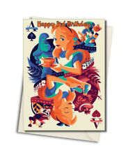 Personalised Alice In wonderland Birthday Card - Choose the Name And Age