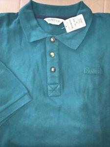 NWT Orvis Mens #17A8 British Green Signature 3 Button Pique Cotton Polo Shirt XL