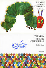 ERIC CARLE SIGNED THE VERY HUNGRY CATERPILLAR HARDCOVER BOOK BECKETT BAS LOA