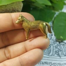 Dollhouse Miniature Figurine Brass Wolf Animal Metal work Collectible Rich Lucky