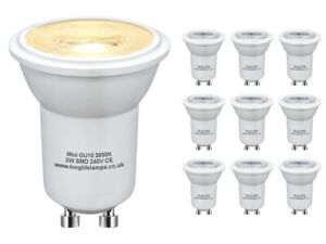 10 x Mini GU10 LED replacement Halogen Light Bulbs 35mm Small GU10 35W